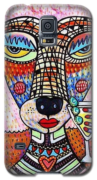 Pink Poodle Drinking A Martini Galaxy S5 Case