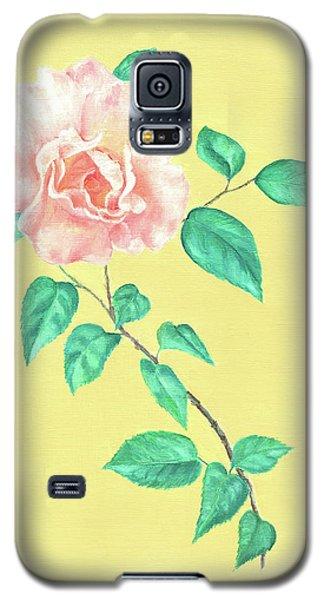 Pink Rose Galaxy S5 Case