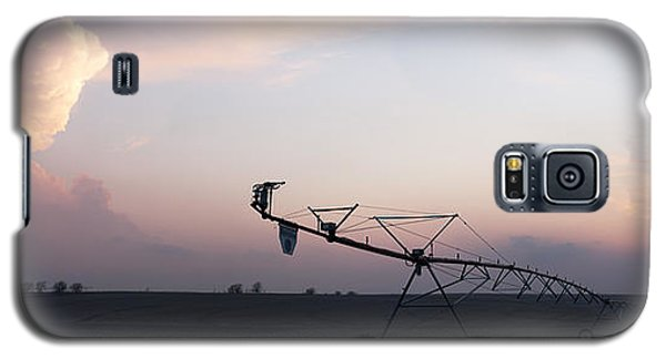 Pivot Irrigation And Sunset Galaxy S5 Case