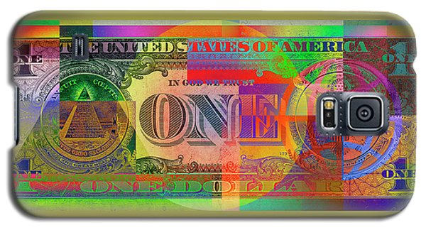 Still Life Galaxy S5 Case - Pop-art Colorized One U. S. Dollar Bill Reverse by Serge Averbukh