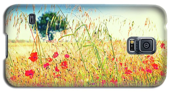 Galaxy S5 Case featuring the photograph Poppies With Tree In The Distance by Silvia Ganora