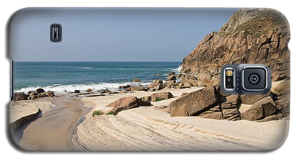 Portheras Beach In Nw Cornwall Galaxy S5 Case