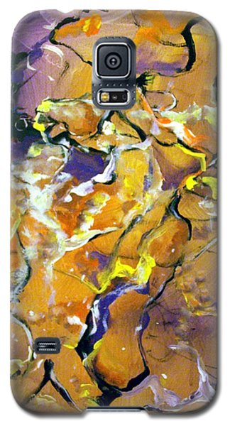 Galaxy S5 Case featuring the painting Praise Dance by Raymond Doward