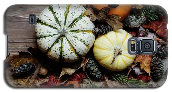 Galaxy S5 Case featuring the photograph Pumpkins by Rebecca Cozart