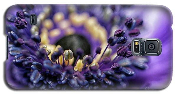 Purple Heart Of A Flower Galaxy S5 Case