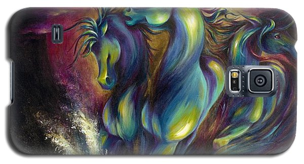 Galaxy S5 Case featuring the painting Racing The Moon by Dina Dargo