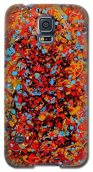 Galaxy S5 Case featuring the painting Raindance 1 by Irene Hurdle