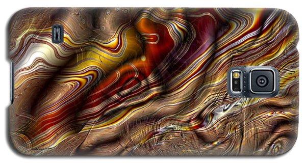 Galaxy S5 Case featuring the digital art Rare Silk by Richard Ortolano