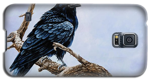 Galaxy S5 Case featuring the painting Raven by Igor Postash