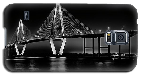 Galaxy S5 Case featuring the photograph Ravenel Bridge by Bill Barber