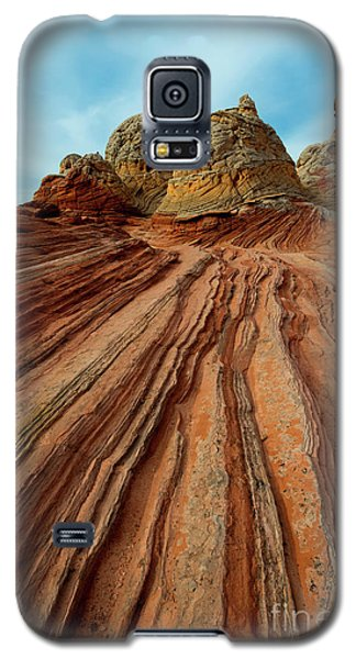 Galaxy S5 Case featuring the photograph Red Desert Lines by Mike Dawson