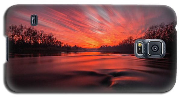 Galaxy S5 Case featuring the photograph Red Dusk by Davorin Mance