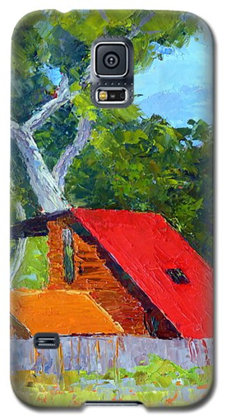 Red Roof Galaxy S5 Case by Susan Woodward