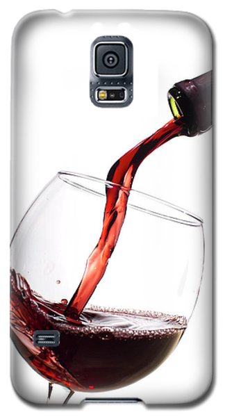 Red Wine Poured Into Wineglass Galaxy S5 Case