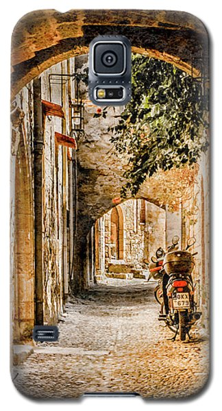 Galaxy S5 Case featuring the photograph Rhodes, Greece - Rhodian Street by Mark Forte