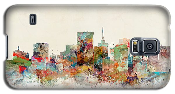 Galaxy S5 Case featuring the painting Richmond Virginia Skyline by Bri B