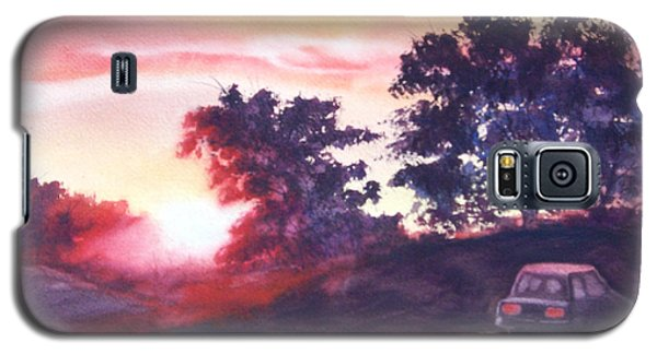 Galaxy S5 Case featuring the painting Road To Fargo by Marilyn Jacobson