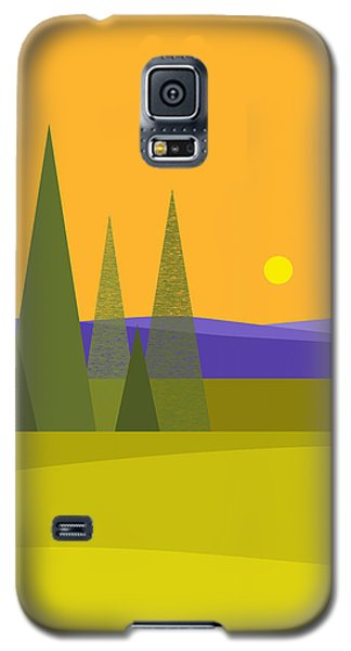 Galaxy S5 Case featuring the digital art Rolling Hills by Val Arie