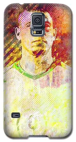 Galaxy S5 Case featuring the mixed media Ronaldo by Svelby Art