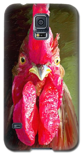 Galaxy S5 Case featuring the painting Rooster 1 by James Shepherd