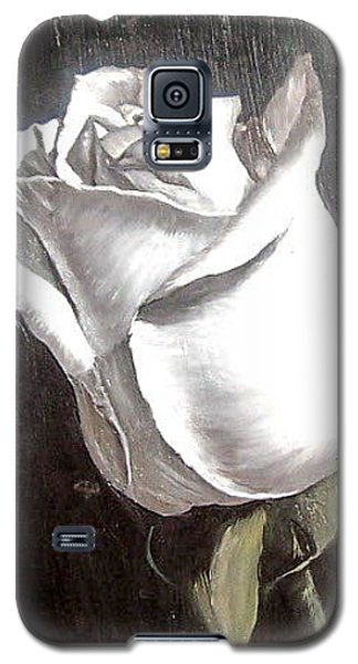 Galaxy S5 Case featuring the painting Rose 2 by Natalia Tejera