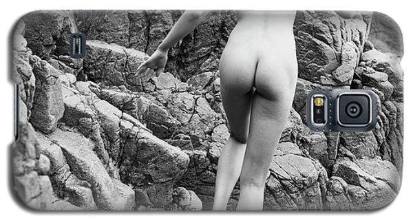 Running Nude Girl On Rocks Galaxy S5 Case