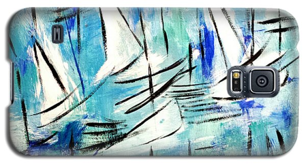 Sailing Blue Galaxy S5 Case