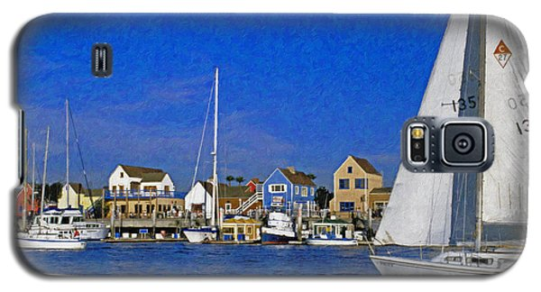 Galaxy S5 Case featuring the photograph Sailing Marina Del Rey Fisherman's Village by David Zanzinger