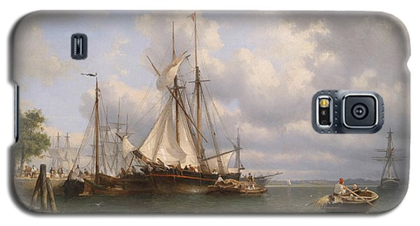 Sailing Ships In The Harbor Galaxy S5 Case by Anthonie Waldorp