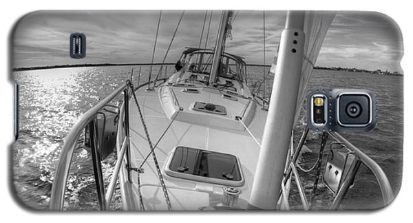 Sailing Yacht Fate Beneteau 49 Black And White Galaxy S5 Case