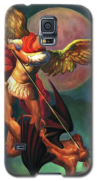 Galaxy S5 Case - Saint Michael The Warrior Archangel by Svitozar Nenyuk