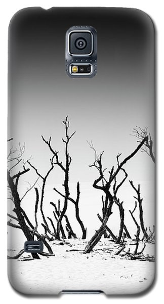 Galaxy S5 Case featuring the photograph Sand Dune With Dead Trees by Chevy Fleet