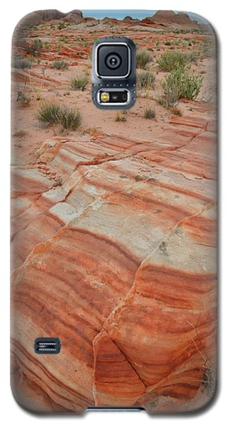 Galaxy S5 Case featuring the photograph Sandstone Stripes In Valley Of Fire by Ray Mathis