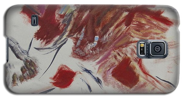 Galaxy S5 Case featuring the painting Scene Of The Crime by Patricia Cleasby