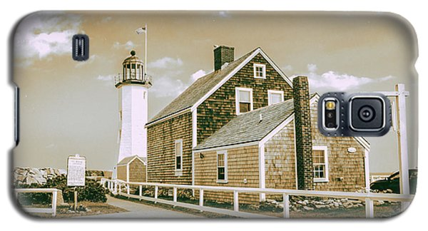 Galaxy S5 Case featuring the photograph Scituate Lighthouse In Scituate, Ma by Peter Ciro