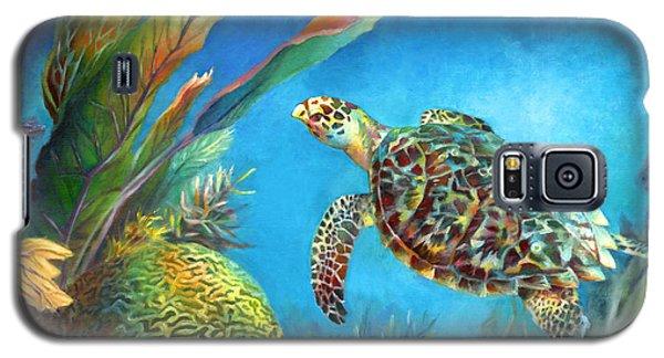 Sea Escape Iv - Hawksbill Turtle Flying Free Galaxy S5 Case