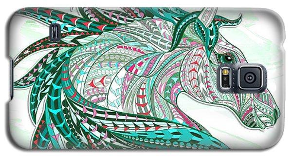 Sea Green Ethnic Horse Galaxy S5 Case