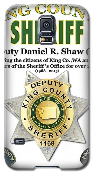 Sheriff Galaxy S5 Case by Kenneth De Tore