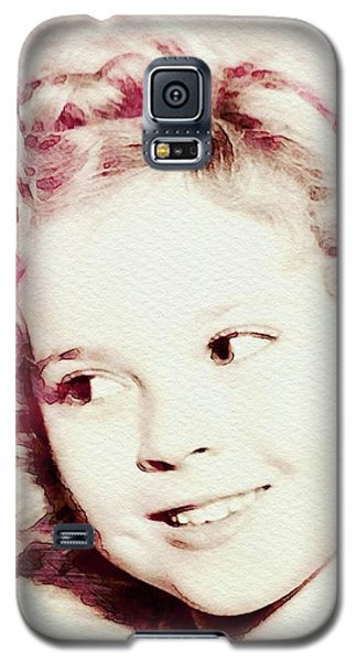 Shirley Temple Galaxy S5 Case - Shirley Temple, Vintage Actress by John Springfield