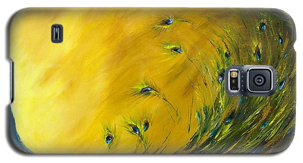 Show-off 2 Horizontal Peacock Galaxy S5 Case by Dina Dargo