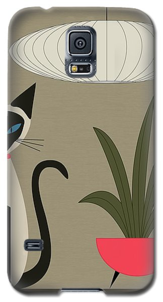 Siamese Cat On Tabletop Galaxy S5 Case