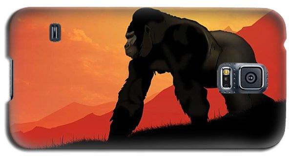 Galaxy S5 Case featuring the digital art Silverback Gorilla by John Wills
