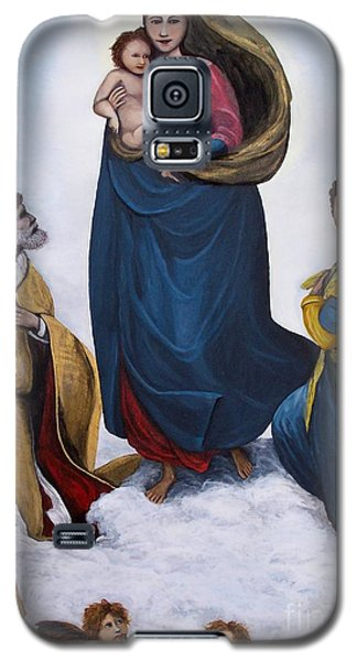 Galaxy S5 Case featuring the painting Sistine Madonna by Judy Kirouac