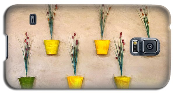 Six Flower Pots On The Wall Galaxy S5 Case