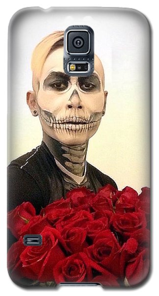 Skull Tux And Roses Galaxy S5 Case by Kent Chua