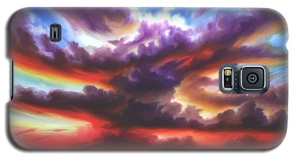 Galaxy S5 Case featuring the painting Skyburst by James Christopher Hill