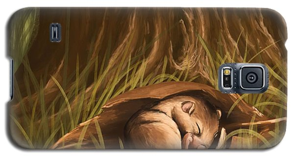 Galaxy S5 Case featuring the painting Sleeping  by Veronica Minozzi