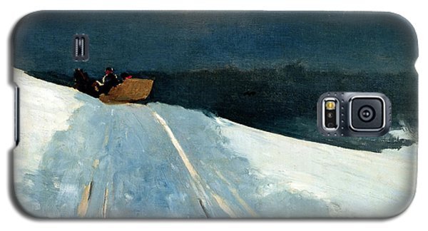 Galaxy S5 Case featuring the painting Sleigh Ride by Winslow Homer