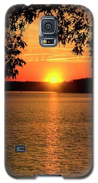 Smith Mountain Lake Silhouette Sunset Galaxy S5 Case