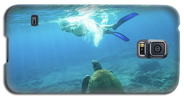 Snorkeler Female Sea Turtle Galaxy S5 Case